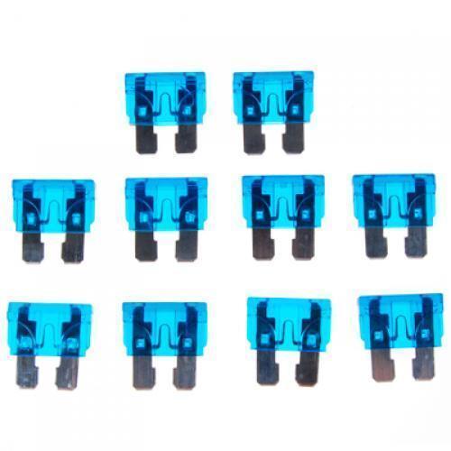 10PCS 32V//15A Mini Blade Assortment Auto Car Truck Motorcycle Fuses Blue