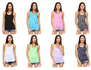 pezzi Racerback Canottiera Womens Confezione 10 da Workout Burnout Fashion 0wwxzSn8