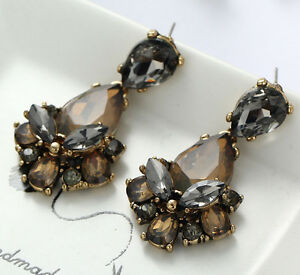 1-Pair-Elegant-Brown-Crystal-Rhinestone-Ear-Drop-Dangle-Stud-long-Earrings-165