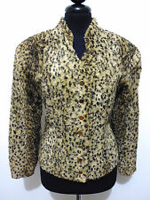 KRIZIA ANIMAL VINTAGE '80 Giacca Donna Maculata Woman Leopard Jacket Sz.S - 40