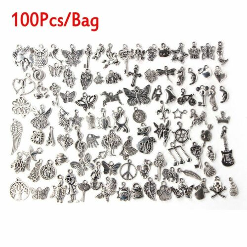 Wholesale Mixed Tibet Silver Beads Spacer Mix Charm Pendants Jewelry Making DIY