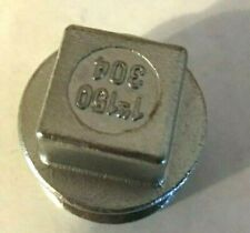 1 Plug Square Head 150 304 Stainless Steel Threaded New Fast Shipping