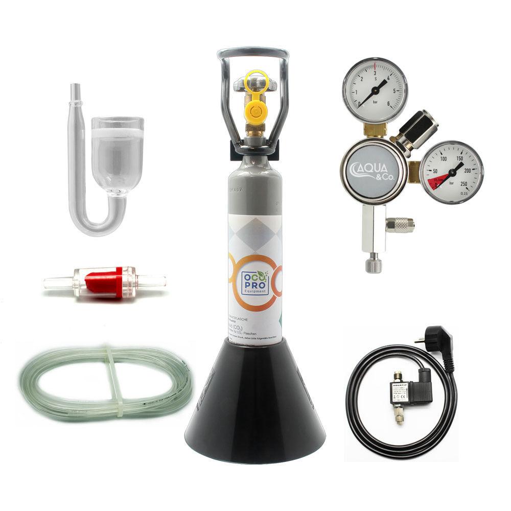 Aqua & Co. MN250 CO2 Anlage mit 500g Flasche & Nachtabschaltung für AQ bis 250L