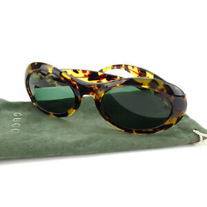 3d8abaffa3b93 Image is loading Gucci-sunglasses-Green-Beige-Woman-Authentic-Used-Y3336