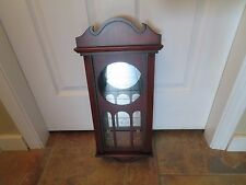 MIRRORED WALL HANGING CURIO CABINET GLASS DOOR WITH GLASS  SHELF