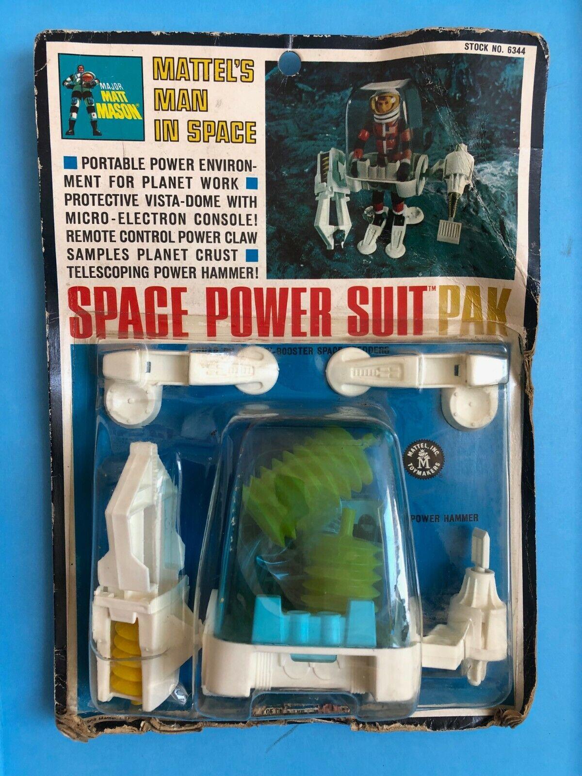 Mattel Mattel Mattel Major Matt Mason  - Space Power Suit Pak - Sealed MOC 1968 203