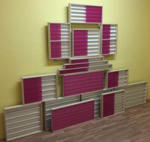 VitrinenSchmidt® Spur N Treppen Vitrinen mit 12 Ebenen 140-150cm Foto Rückwand