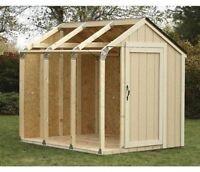 Hopkins Peak Style Roof Shed Kit Outdoor Backyard Storage Tool Yard Organizer