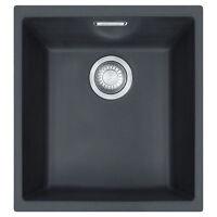 Franke Sid 110-34 Bowl Undermount Tectonite Onyx Sink Pop-up Waste & Overflow