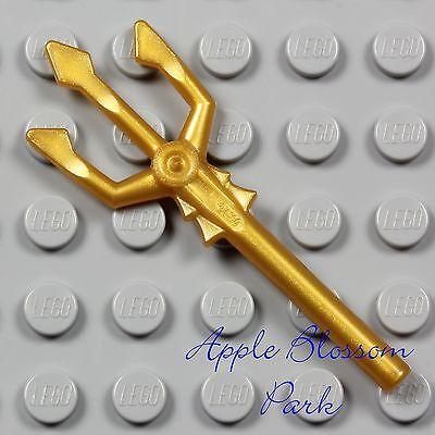 ☀️NEW Lego Weapon Gold TRIDENT Atlantis Minifigure Pitch Fork Minifig Tool Sea