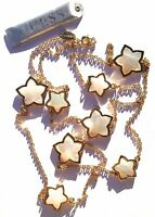 Stylish Brand $45.00 Guess Mother Of Pearl Gold Stars Necklace