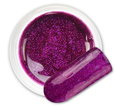 Atria Purple 074 GEL UV E LED GLITTER COLORATO RICOSTRUZIONE UNGHIE NAIL ART