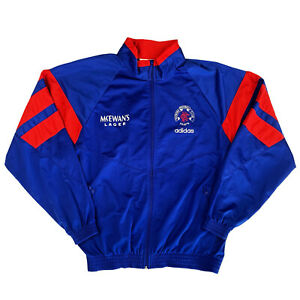 Glasgow Rangers Adidas 1992/1993/1994 Trascksuit Track Jacket Top LARGE