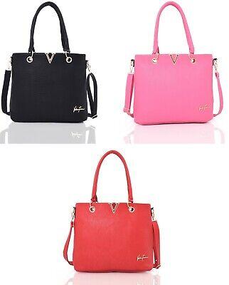 Faux Leather Ladies Addison Tote Bag,Hand Bag,Shoulder Bag Trendy /& High Quality