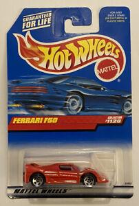 1999-HotWheels-FERRARI-F50-Red-Rosso-Corsa-molto-RARO-Nuovo-di-zecca-MOC