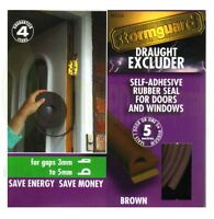 EPDM Rubber or Foam Draught Proofing Seal Draft Excluder Window Door Roll Strip