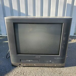 """Toshiba Retro Gaming 20"""" TV VCR VHS DVD Player Combo MW20H63 Tested FREE SHIPPIN"""