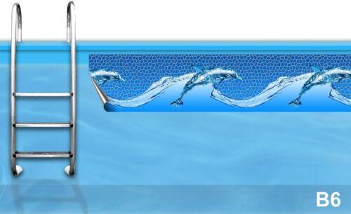 Aufkleber Pool Bordüre * Randverzierung Stahlwandbecken Polyesterbecken