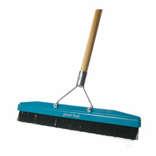 Grandi Groom AB28 Carpet Brush 54-Inch Handle Blue 18-Inch Head