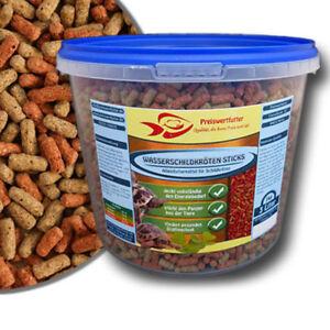 Wasserschildkroeten-Sticks-3L-Eimer-1-kg-Schildkroetenfutter-Reptilienfutter-Fisch