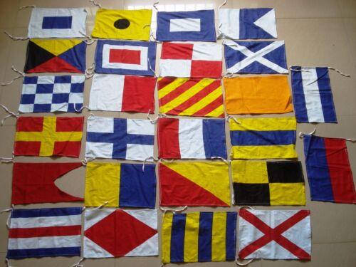 Set of Total 26 flag Marine Signaling Flags 100/% COTTON Marine Code Flag