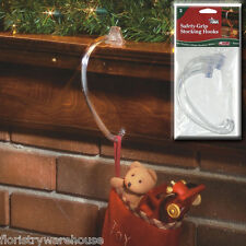 FloristryWarehouse Christmas Stocking Hangers Adams Safety Grip Hooks Pack of 2