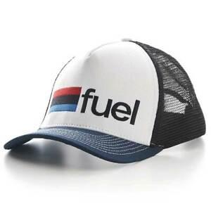 Fuel Motorcycles Rally Raid Trucker Hat Cap - White
