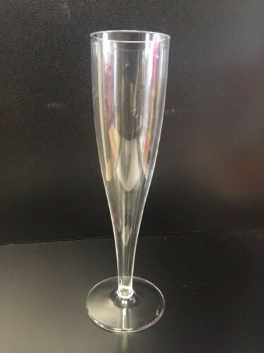 50 x Plastic Champagne Flute Champagne flute in display trays