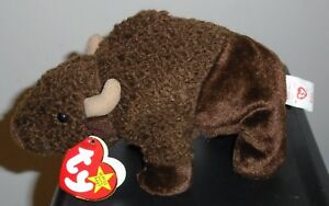 Nmt Ty Beanie Baby Roam The Buffalo Mint With Near Mint Tag