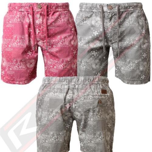 Men/'s Threadbare SMT239 Designer Printed Chino Cotton Summer Cargo Combat Shorts