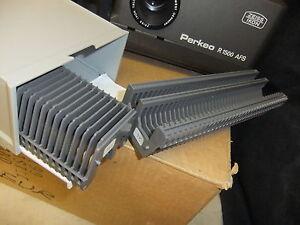 Slide-projector-slide-cassette-trays-X-2-50-50-slides-FOR-ZEISS-IKON-storage-box