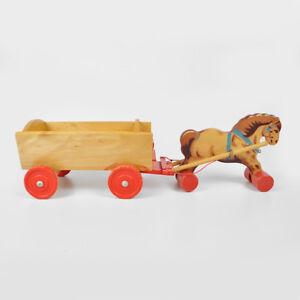 Fahrzeuge Holzspielzeug Pferdewagen Holzspielzeug