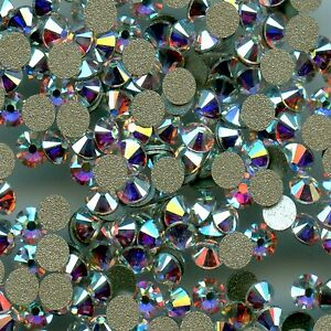 2058 SS34 CO  *** 8 STRASS SWAROVSKI FOND PLAT 7,2mm CRYSTAL  COPPER F
