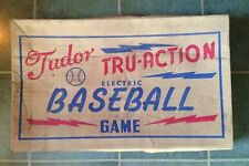 1950s TUDOR TRU-ACTION ELECTRIC BASEBALL GAME, BOARD ONLY in BOX, FOR PARTS