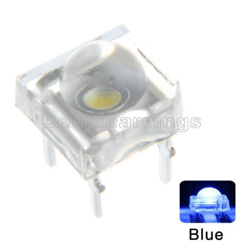 50PCS 5mm F5 Piranha LED Blue Round Head Super Bright VC nice Emitting Diode