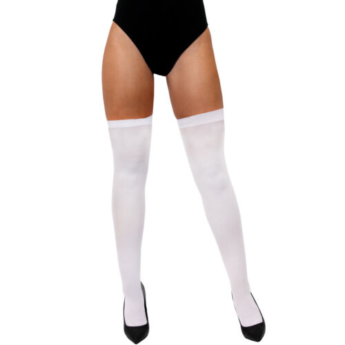 LADIES THIGH HIGH SOCKS HOLD UP STOCKINGS OVER THE KNEE FANCY DRESS COSTUME