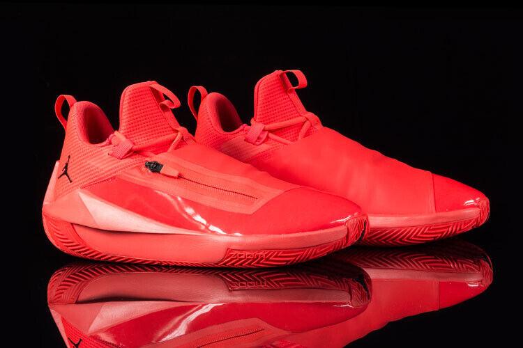 Mens Nike Air Jordan Jumpman Hustle Trainers INFRArot MJ 23 EUR 48.5 US 14 UK 13 Elegante Form