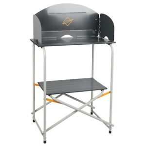 Image Is Loading OZTRAIL COMPACT CAMPING CAMP KITCHEN TABLE STOVE STAND