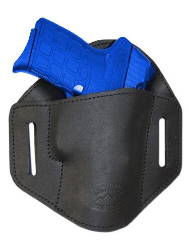 New Barsony Black Leather Belt Slide Holster Sig Sauer Walther 380 Ultra Comp 40