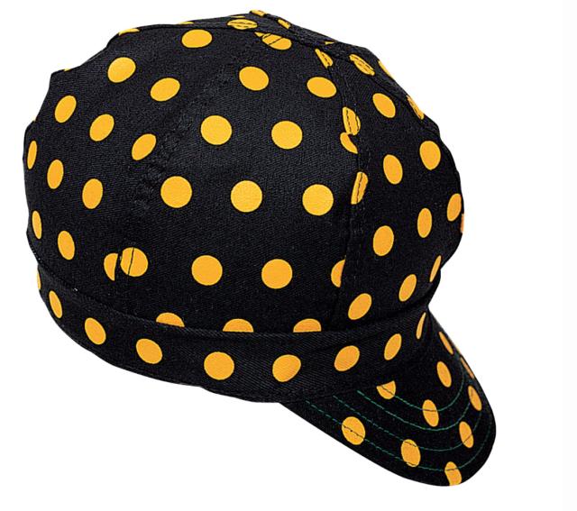 STORMY KROMER YELLOW POLKA DOT WELDING CAP HAT A32V
