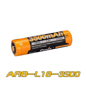 FENIX ARB-L18 2600mAh Protected Button Top 18650 Rechargeable Battery