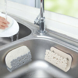 Kitchen-Drying-Rack-Sink-Sponges-Suction-Cup-Dish-Holder-Scrubbers-Soap-St-T-YAN