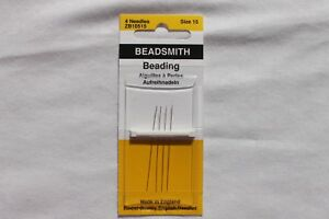 Beadsmith-Size-15-Long-Beading-Needles-Crafts-Jewelry-Making-Findings-4-needles