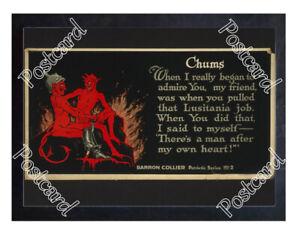 Historic-WWI-Recrutiment-Poster-The-Devil-amp-the-Kaiser-Postcard