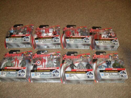 Hasbro Avengers 2.5 inch Lot of 8 Action Figure 2 Packs America Iron Man Hulk