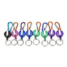 Retractable Reel Recoil ID Badge Lanyard Name Tag Key Card Holder Belt Clips leU