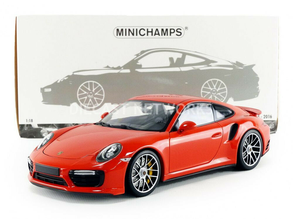 Minichamps 2016 Porsche 911 (991 II) TURBO S Orange 1 18 Maßstab Neu  Le Of 504