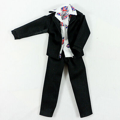 Black Jeans Trousers White Shirts Ken Dolls Clothes Outfit Barbie Male Handsome