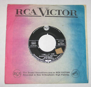 Elvis-Presley-7-45-HEAR-ROCK-N-ROLL-I-Beg-Of-You-RCA-VICTOR-7150-GERMAN-Dont
