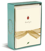Ladybug 10 Boxed Thank You Cards By Graphique De France